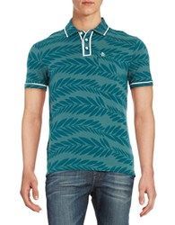 Original Penguin Leaf Print Polo Shirt Green