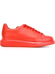 Alexander Mcqueen Extended Sole Sneakers Red