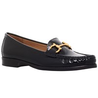 Carvela Click Flat Shoes Black Patent Leather
