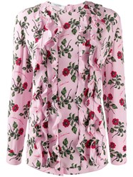 Valentino Ruffle Detail Floral Print Blouse 60