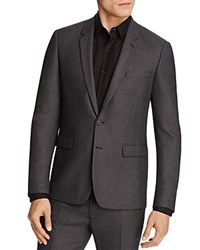 Sandro Notch Micro Check Regular Fit Sport Coat 100 Bloomingdale's Exclusive Gray