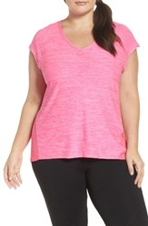 Marika Plus Size Women's Curves Charged Tee Pink Blast