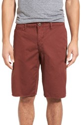 Original Paperbacks Men's 'St. Barts' Raw Edge Shorts Burgundy