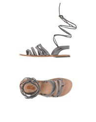 Local Apparel Footwear Thong Sandals Women Grey
