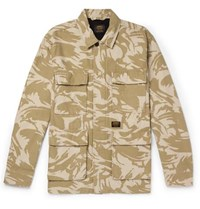 Carhartt Wip Balfour Camouflage Print Cotton Canvas Field Jacket Neutral