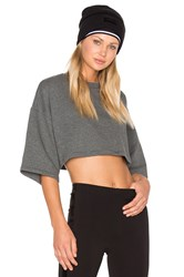 Fenty By Puma Crew Neck Crop Tee Grey
