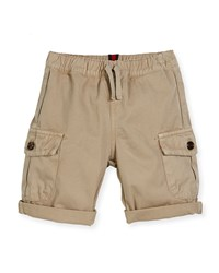 Gucci Cotton Drawstring Cargo Shorts Oatmeal Size 12 36 Months Size 18 24 Months