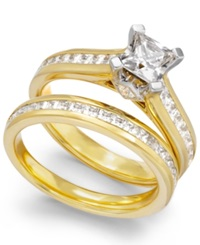 Macy's Certified Diamond Bridal Set In 14K Gold 2 Ct. T.W.