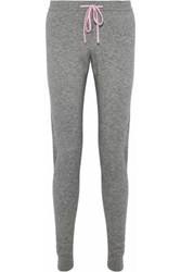 Chinti And Parker Cropped Wool Cashmere Blend Track Pants Gray