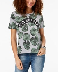 Mighty Fine Juniors' Sun Chaser Graphic Print T Shirt Heather