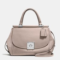Coach Drifter Carryall In Mixed Leather Silver Grey Birch