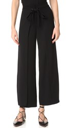 Yigal Azrouel Wide Leg Wrap Pants Jet