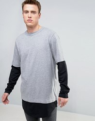 Cheap Monday Fake Long Sleeve Layer Top Grey