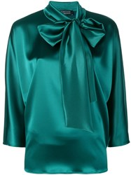 Gianluca Capannolo Bow Tie Blouse Green