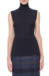 Women's Akris Crinkle Knit Stretch Wool And Silk Knit Top