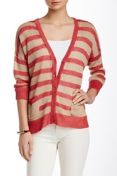 Cullen Stripe Linen Crop Cardigan Multi