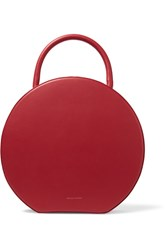 Mansur Gavriel Circle Leather Tote Red