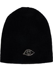 Warm Me Classic Knitted Beanie Hat Cashmere Black