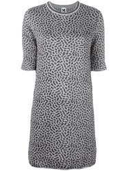 M Missoni Patterned Sweater Dress Grey