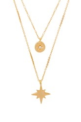 Five And Two Erin Necklace Metallic Gold