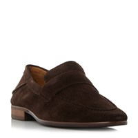 Bertie Presidente Unlined Saddle Loafers Brown