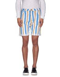 Cruna Trousers Bermuda Shorts Men Pastel Blue
