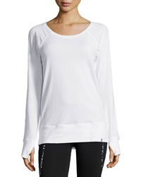 Marc Ny Performance Ruched Back Yoga Tee White