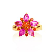Alexandra Alberta Pixie Princess Ring Gold Pink Purple