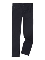 Armani Jeans J21 Regular Fit Gaberdine Trousers Navy