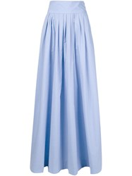 Rosie Assoulin Flared Long Skirt Blue
