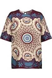 Valentino Printed Silk Canvas Top Multi