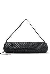 M Z Wallace Mz Leather Trimmed Quilted Shell Yoga Mat Bag Black