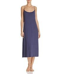 Natori Shangri La Knit Gown Heather Navy Blue