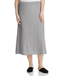 Eileen Fisher Plus Marled Midi Flare Skirt 100 Bloomingdale's Exclusive Silver