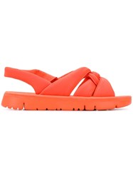 Camper Oruga Sandals Orange