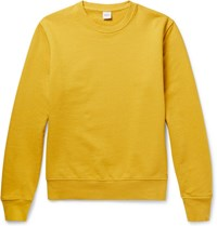 Aspesi Garment Dyed Loopback Cotton Jersey Sweatshirt Mustard
