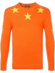 Guild Prime Stars Knit Sweater Yellow And Orange