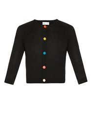 Red Valentino Button Through Cropped Knit Cardigan