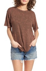 Sun And Shadow Women's Washed Cotton Raw Hem Tee