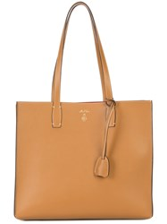 Mark Cross Structured Tote Bag Brown