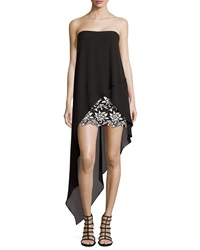 Bcbgmaxazria Krystin Strapless Chiffon High Low Dress