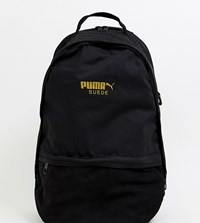 Puma Suede Backpack In Black Black