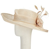 Vixen Millinery Emily Disc And Lace Occasion Hat Soft Gold