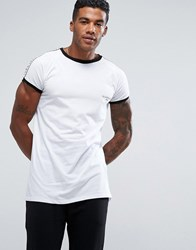 Illusive London T Shirt In White With Taping White