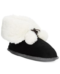Cuddl Duds Snuggle Up Slipper Booties Black