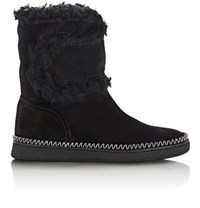 Sartore Women's Fur Trimmed Ankle Boots Black