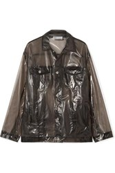 Red Valentino Redvalentino Glossed Pu Jacket Black