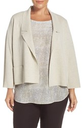 Eileen Fisher Plus Size Women's Notch Collar Washable Wool Crepe Jacket