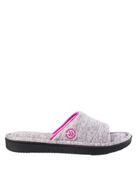 Isotoner Dot Patterned Slide Slippers Heather