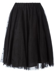P.A.R.O.S.H. Tulle Layer Skirt Black